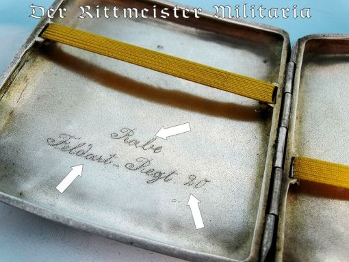 CIGARETTE CASE - SILVER - GERMAN COLONIAL CHINA SEA-SOLDIER'S - Imperial German Military Antiques Sale