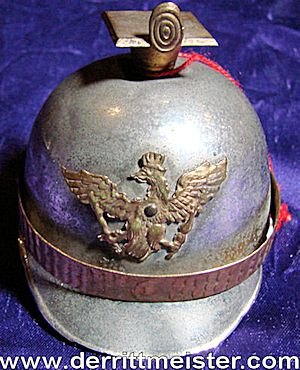 TSCHAPKA-SHAPED INKWELL - PRUSSIA - Imperial German Military Antiques Sale