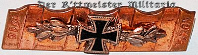 PATRIOTIC IRON CROSS PIN - Imperial German Military Antiques Sale