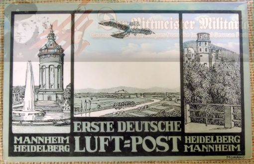 EARLY AIRMAIL POSTCARD - Imperial German Military Antiques Sale