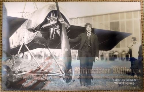 POSTCARD FEATURING ANTHONY FOKKER - Imperial German Military Antiques Sale
