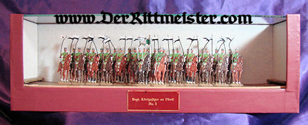 CASED DISPLAY - JÄGER zu PFERDE TIN SOLDIERS - Imperial German Military Antiques Sale