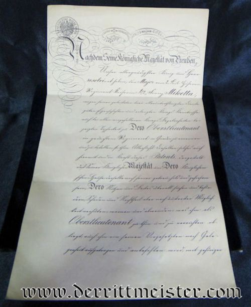 LEIB-HUSAREN-REGIMENT Nr 2 OBERSTLIEUTENANT'S PROMOTION PATENT SIGNED BY KAISER WILHELM II - Imperial German Military Antiques Sale