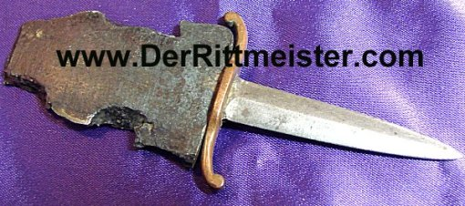 SMALL TRENCH ART SHRAPNEL LETTER OPENER - Imperial German Military Antiques Sale