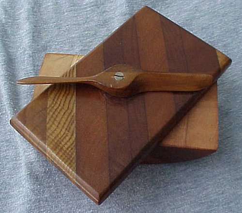 INK BLOTTER MADE FROM A PROPELLER - Imperial German Military Antiques Sale