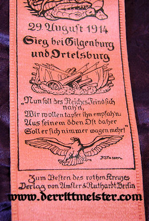 VIVAT RIBBON - GENERALOBERST von HINDENBURG - Imperial German Military Antiques Sale
