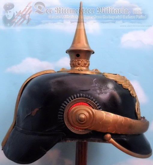 BADEN - PICKELHAUBE - OFFICER - IDENTIFIED ARTILLERIE REGIMENT MEDICAL - Imperial German Military Antiques Sale