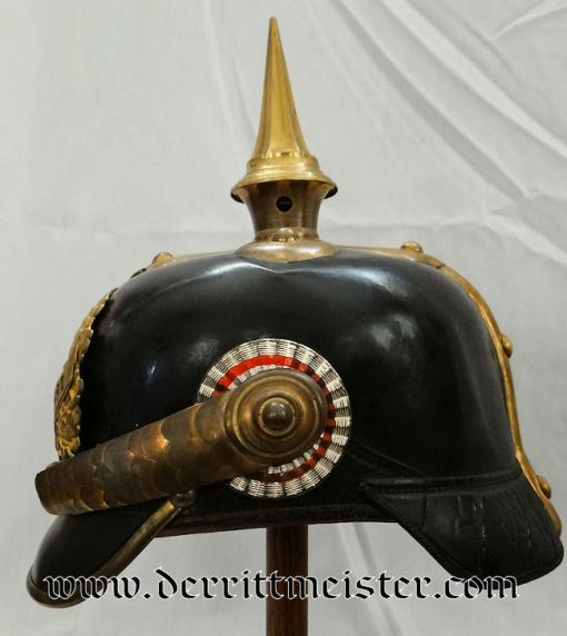 HESSE-DARMSTADT - PICKELHAUBE - OFFICER - INFANTERIE-REGIMENT Nr 117 - Imperial German Military Antiques Sale