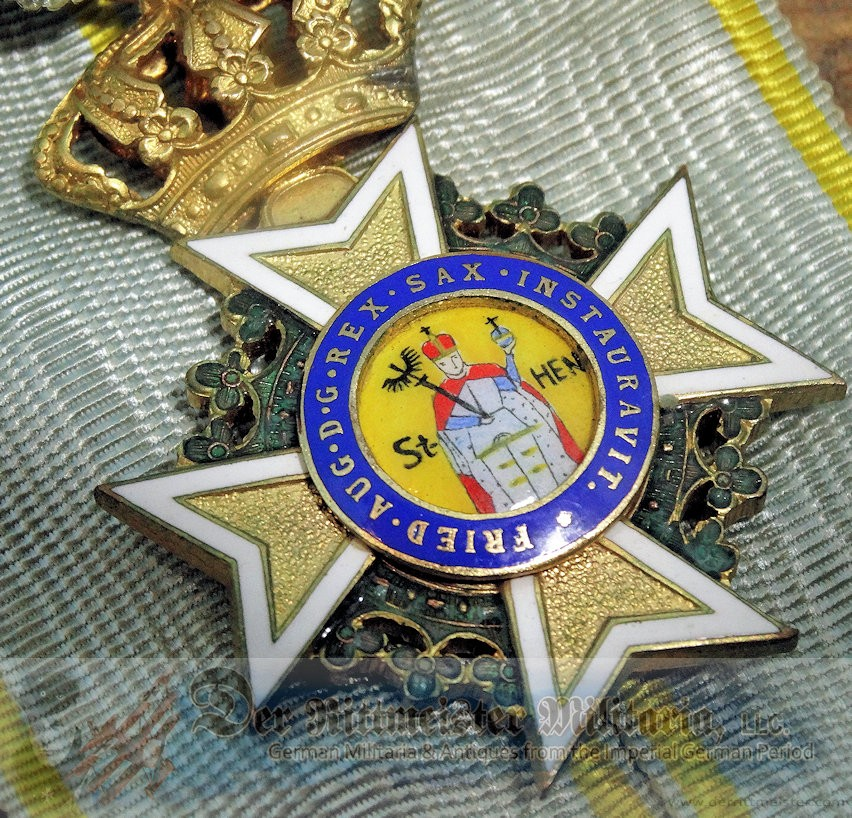 SAXONY - MILITARY ORDER OF KNIGHT'S CROSS OF ST  HEINRICH - Der Rittmeister  Militaria LLC