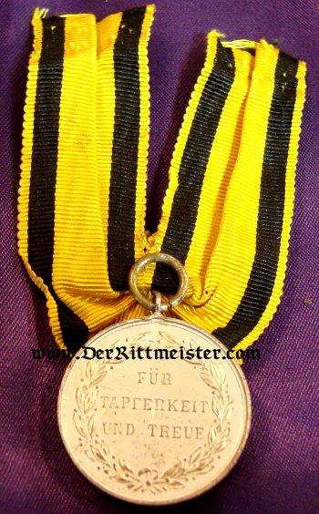 KÖNIG WILHELM II - SILVER SERVICE MEDAL - Imperial German Military Antiques Sale