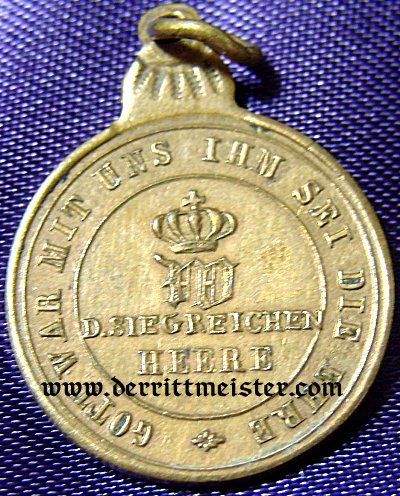 MINIATURE - 1870 COMBATANTS MEDAL - Imperial German Military Antiques Sale