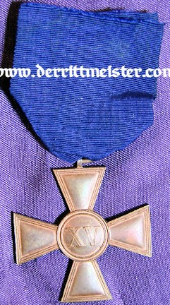 ENLISTED MAN/NCO LONG SERVICE AWARD- FIFTEEN YEARS - Imperial German Military Antiques Sale