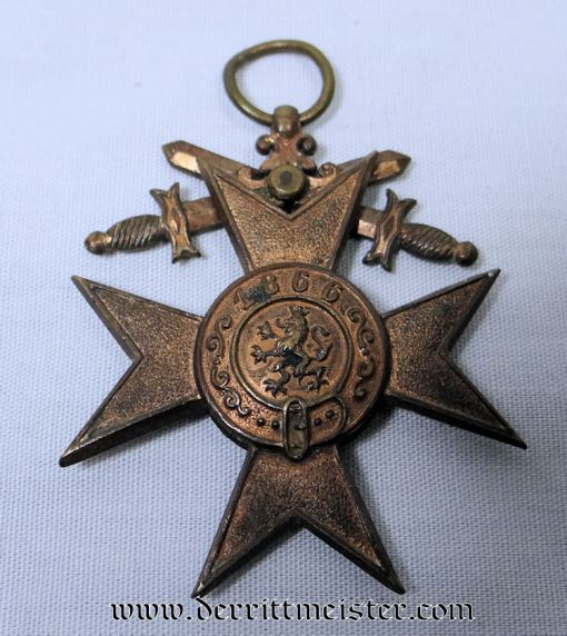 MILITARY MERIT CROSS 3rd CLASS WITH SWORDS - BAVARIA - Imperial German Military Antiques Sale