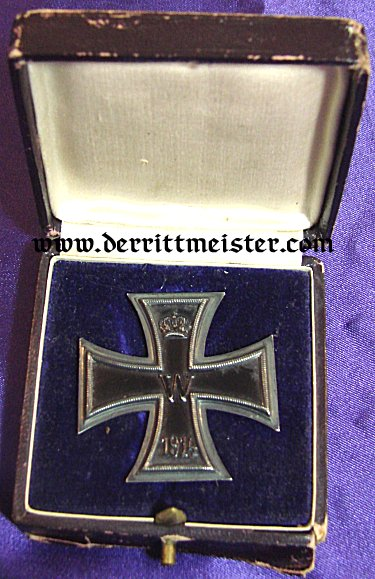 IRON CROSS - 1914 - 1st CLASS - HALLMARKED KO - ORIGINAL PRESENTATION CASE - Imperial German Military Antiques Sale