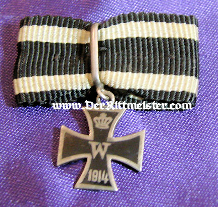 IRON CROSS - 1914 - MINI - MOUNTED ON BOW