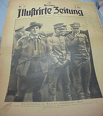 GERMANY - NEWSPAPERS - ASSORTED - FROM WW I - Imperial German Military Antiques Sale