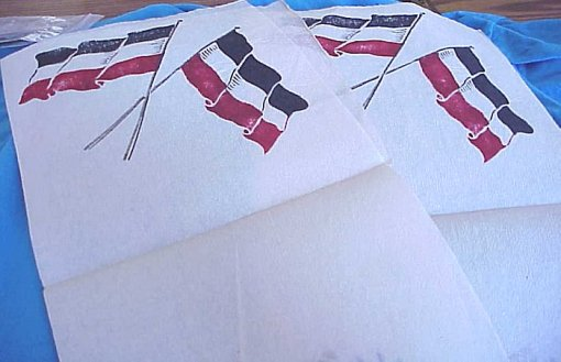 PRUSSIA - CREPE PAPER DESIGNS - HOHENZOLLERN EAGLE AND GERMAN NATIONAL FLAG (2) - Imperial German Military Antiques Sale
