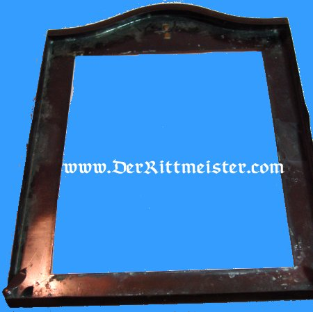 BRASS FRAME FROM GREAT BRITAIN - Imperial German Military Antiques Sale