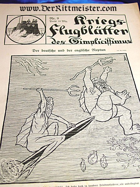 "GERMANY - NEWSPAPER - ""KRIEGS-FLUGBLÄTTER"" - Imperial German Military Antiques Sale"