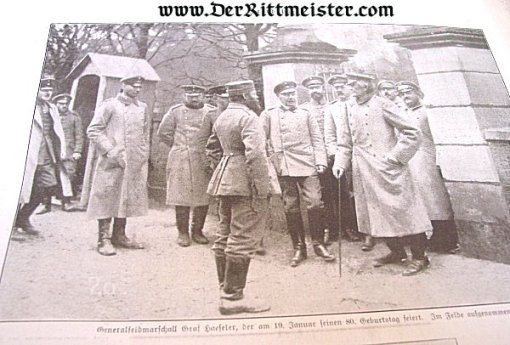 GERMANY - NEWSPAPER - ZEITBILDER - 13 JANUARY 1916 - Imperial German Military Antiques Sale