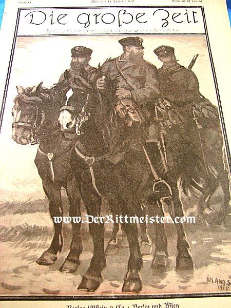 """GERMANY - MAGAZINE - VOLUME Nr 22 - """"DIE GROßE ZEIT"""" - Imperial German Military Antiques Sale"""