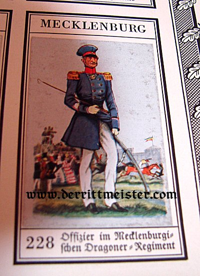 GERMANY - CIGARETTE CARD ALBUM - DER BUNTE ROCK - Imperial German Military Antiques Sale