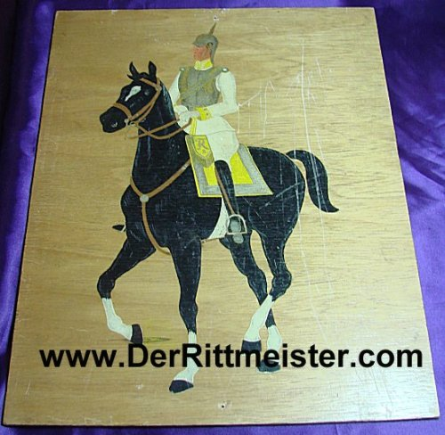 PRUSSIA - PAINTING - LEUTNANT - KÜRAßIER-REGIMENT Nr 7 - Imperial German Military Antiques Sale
