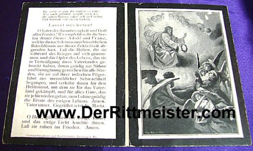 GERMANY - DEATH CARDS - TWO BROTHERS - Imperial German Military Antiques Sale
