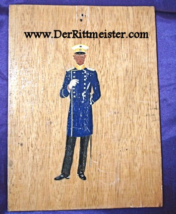 PAINTED WALL PLAQUE - OFFICER - KÜRAßIER-REGIMENT Nr 7 - Imperial German Military Antiques Sale
