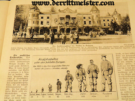 GERMANY - NEWSPAPER - DAS LEBEN IM BILD KRIEGSBILDER - Imperial German Military Antiques Sale
