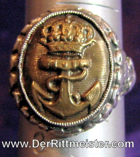 RING - NAVAL BUTTON - Imperial German Military Antiques Sale