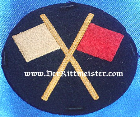 GERMANY - SIGNALMAN PATCH - ENLISTED MAN - INFANTERIE-REGIMENT - Imperial German Military Antiques Sale