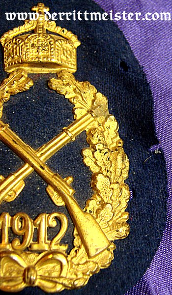 PRUSSIA - SHOOTING PRIZE - KAISER WILHELM II - 1912 - INFANTERIE-REGIMENT - Imperial German Military Antiques Sale