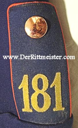 SAXONY - TUNIC -  FAHNENJUNKER - IDENTIFIED - INFANTERIE-REGIMENT Nr 181 'S - Imperial German Military Antiques Sale