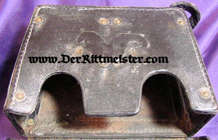 PRUSSIA - CARTRIDGE BOX - ENLISTED MAN - LEIB-KÜRAßIER-REGIMENT GROßER KURFÜRST Nr 1 - Imperial German Military Antiques Sale