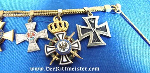 SEVEN-PLACE OFFICER'S MINI TIE-BAR CHAIN - Imperial German Military Antiques Sale