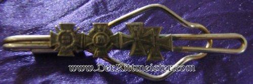 FOUR-PLACE MINIATURE TIE BAR - Imperial German Military Antiques Sale