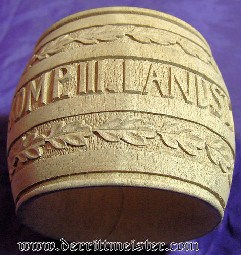 GERMANY - NAPKIN RING - HAND CARVED - VETERAN - Imperial German Military Antiques Sale