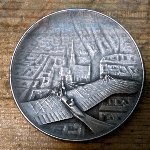 TABLE MEDAL - AUSTRIA - 1912 - FLYING CLUB