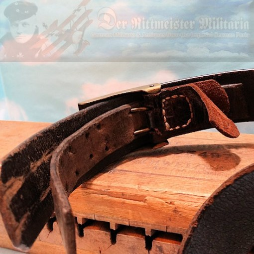 PRUSSIA - LEATHER BELT AND BUCKLE - ENLISTED MAN - PREWAR ISSUE