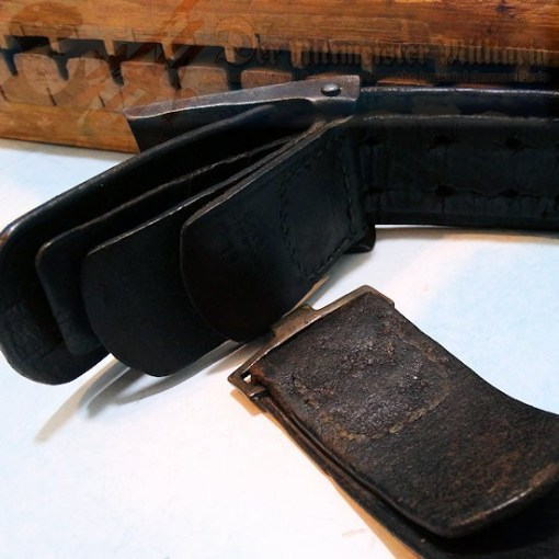 PRUSSIA - LEATHER BELT AND BUCKLE - ENLISTED MAN - WARTIME ISSUE