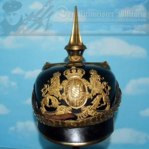 BAVARIA - PICKELHAUBE - OFFICER - CHEVAULEGER-REGIMENTS NR 1, NR 3, NR 5, AND NR 7 - Imperial German Military Antiques Sale