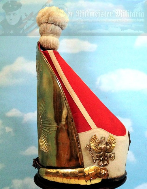 PRUSSIA - MITRE - RUSSIAN-STYLE - ENLISTED MAN - KAISER ALEXANDER GUARD GRENADIER REGIMENT 1  BATAILLON NR III (FÜSILIER) - Imperial German Military Antiques Sale