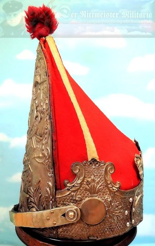 PRUSSIA - MITRE- ENLISTED MUSICIAN - ERSTE GARDE REGIMENT ZU FUß BATAILLON NR I - FRIEDRICH der GROßE-STYLE - Imperial German Military Antiques Sale