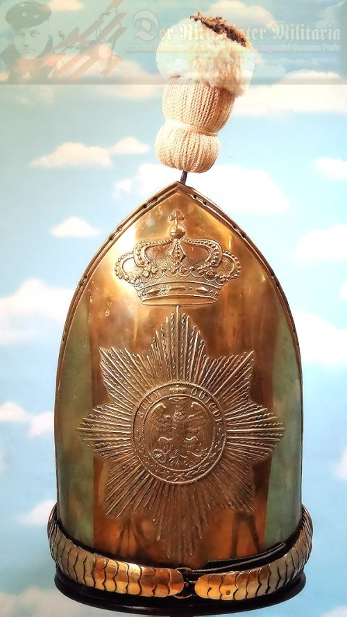 MITRE - NCO - PRUSSIA - MUSEUM COPY - PALACE GUARD - RUSSIAN-STYLE - SILVER-PLATED - Imperial German Military Antiques Sale
