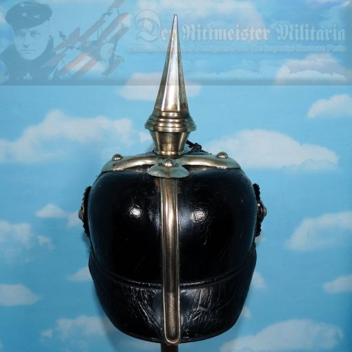 PICKELHAUBE - HESSE-DARMSTADT - OFFICER - INFANTERIE-REGIMENT Nr 115 - CONVERTED TO DRAGONER-REGIMENT Nr 23 OR NR 24 - Imperial German Military Antiques Sale