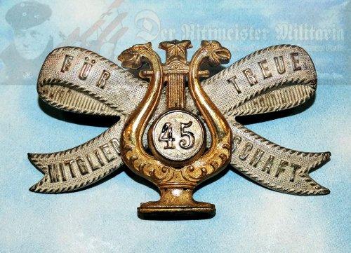BADGE - PATRIOTIC MUSICAL ASSOCIATION - Imperial German Military Antiques Sale