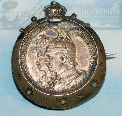 KAISER WILHELM II AND THE KAISERIN PATRIOTIC PIN - Imperial German Military Antiques Sale