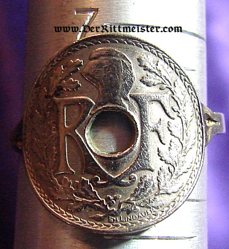 FRANCE - RING - MADE OF FRENCH COIN - Imperial German Military Antiques Sale