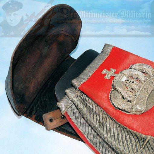 PRUSSIA - SADDLE PISTOL HOLSTER - OFFICER - REGIMENT DES GARDE DU CORPS - Imperial German Military Antiques Sale